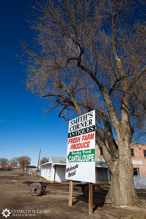 Produce sign in Rocky Ford