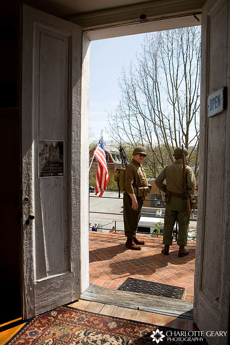 WWII reenactors at the Scottsville Museum in Virginia