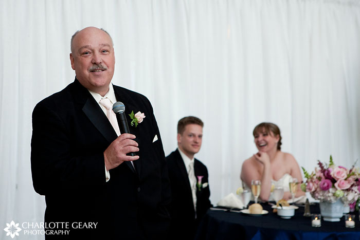 Father of the bride toast at wedding reception