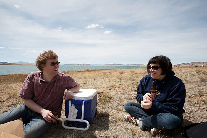 Picnic at Spinney Mountain Reservoir in Colorado