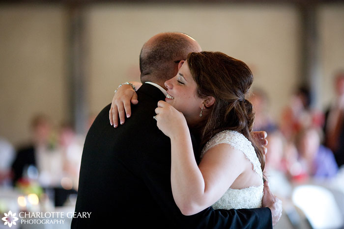 Bride and her father at a Hillside Gardens wedding