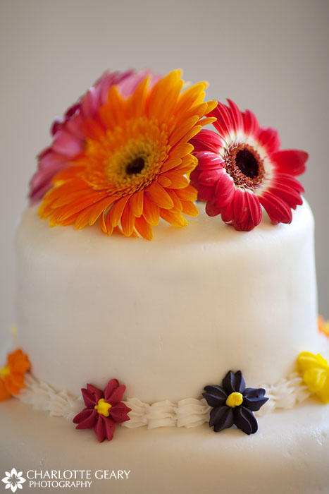 Gerber daisy wedding cake topper