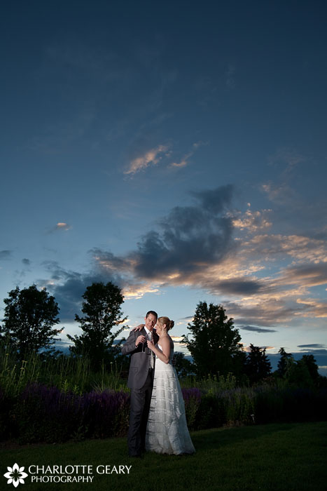 Sunset at a Hudson Gardens wedding