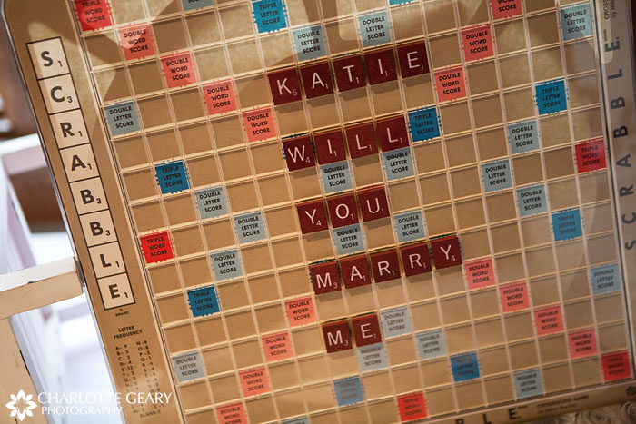 Scrabble wedding proposal