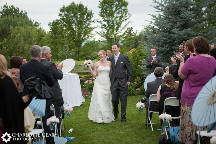Hudson Gardens Inn wedding ceremony
