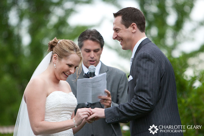 Hudson Gardens wedding ceremony