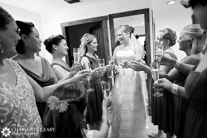 Bride and bridesmaids getting ready, Denver wedding photography