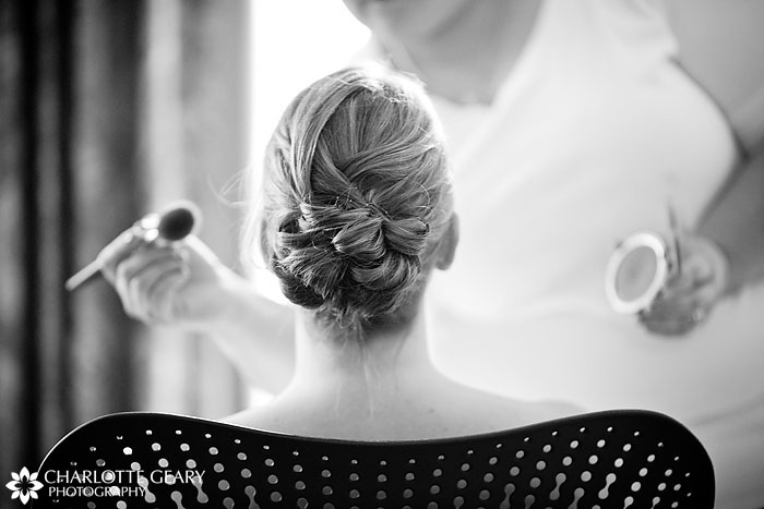 Bride getting ready, Denver wedding photography