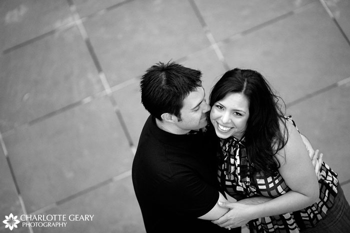 Engagement portrait at the Denver Center for the Performing Arts