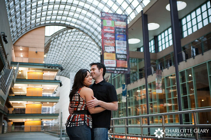 Engagement portraits at the Denver Center for the Performing Arts
