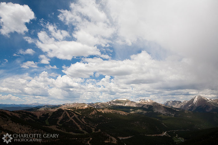 View from the Monarch Pass gondola in Colorado