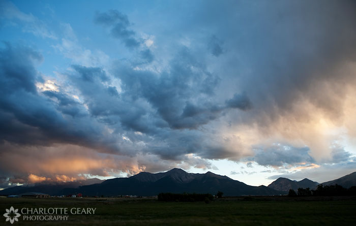 Sunset over the Collegiate Peaks in Buena Vista