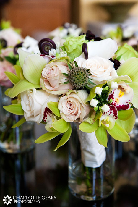 Green and brown bridal bouquet