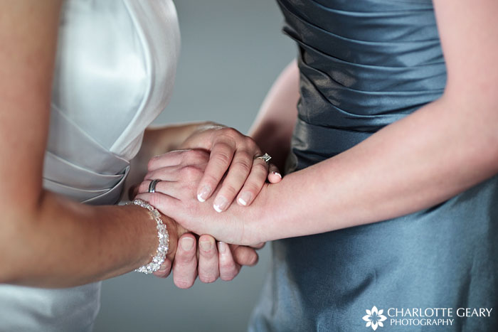 Brides with wedding rings