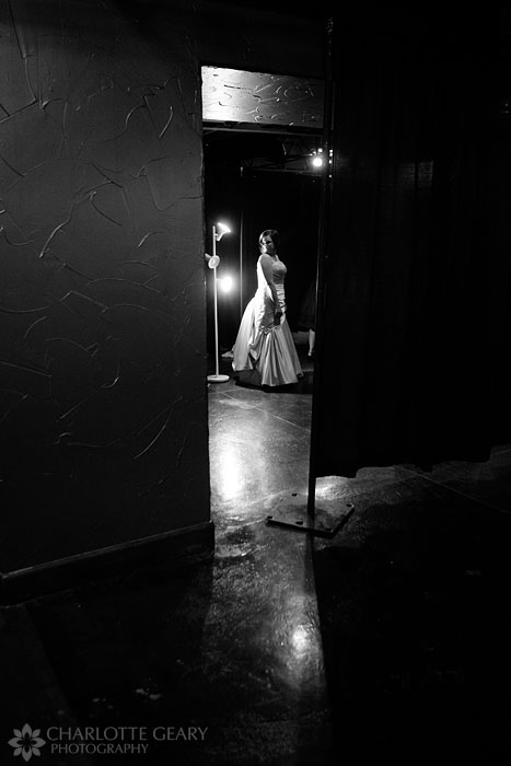 Bride getting ready at Mile High Station