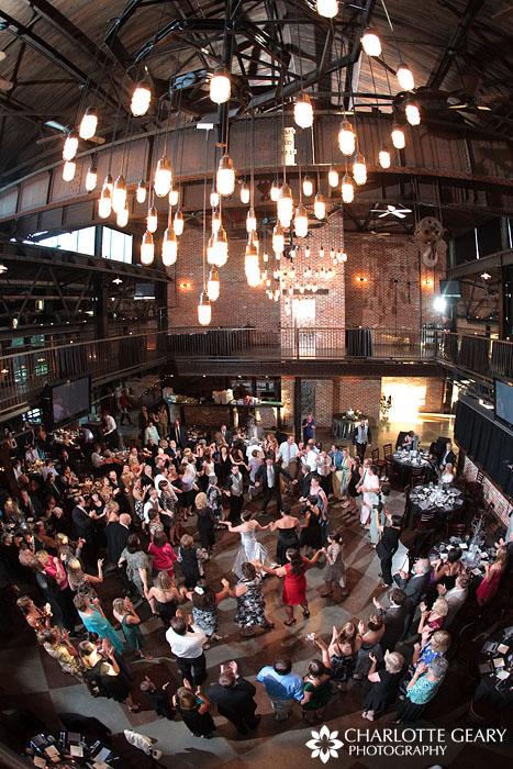 Wedding hora at Mile High Station