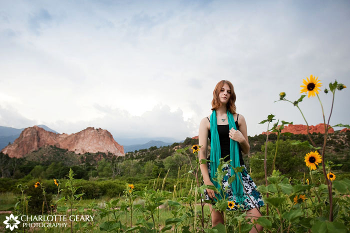 Colorado Springs senior portraits at the Garden of the Gods