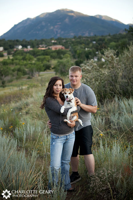 Colorado Springs family portrait in the mountains