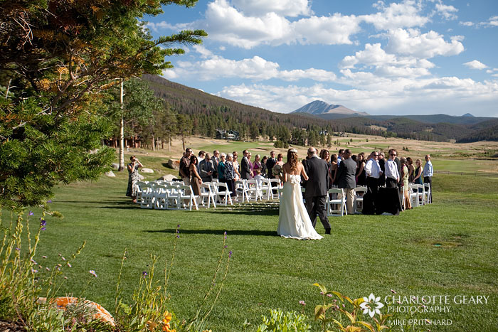 Wedding ceremony at Keystone Ranch