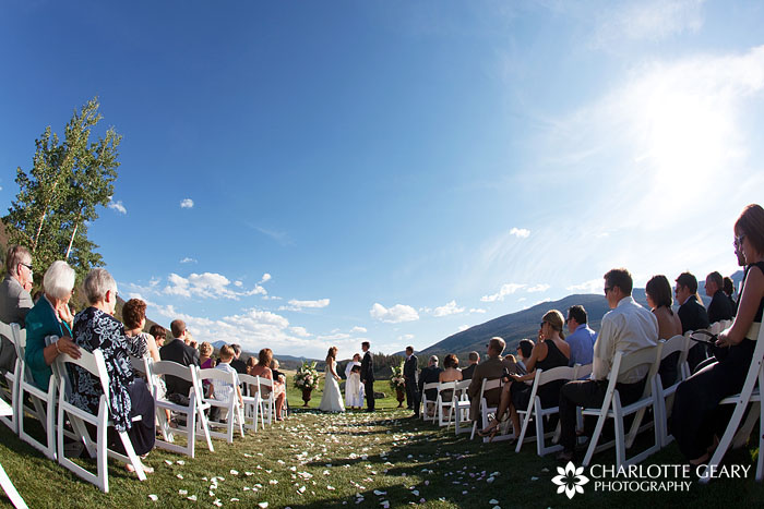 Outdoor wedding ceremony at Keystone Ranch in Colorado