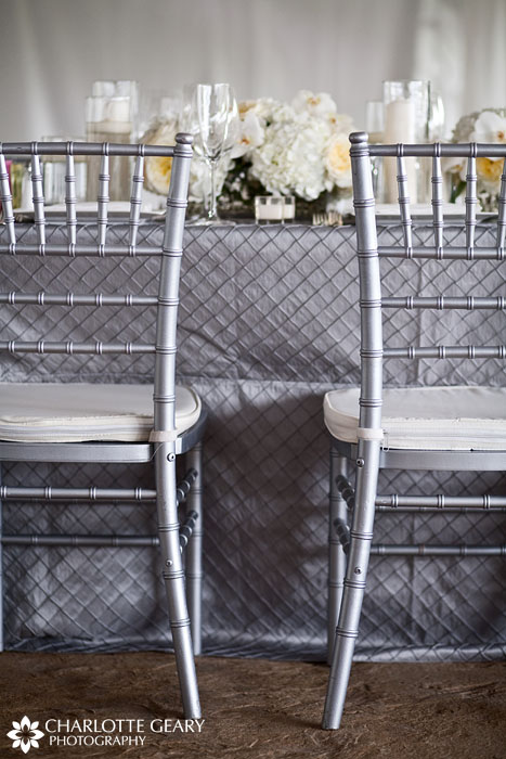 Silver wedding table