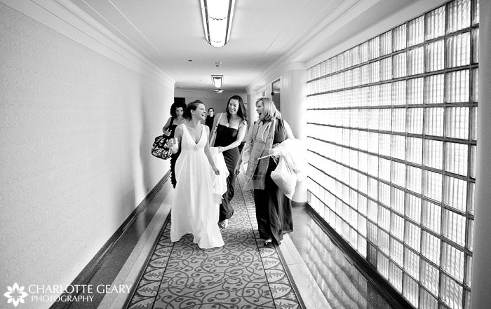 Bride and bridesmaids at the Brown Palace in Denver