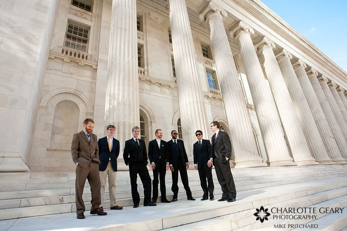Groom and groomsmen in Denver