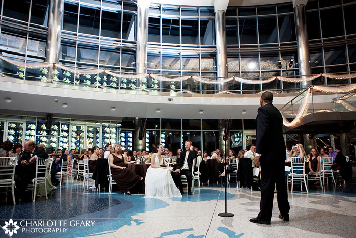 Wedding reception at the Cable Center