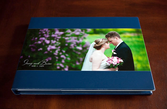Fine art book wedding album