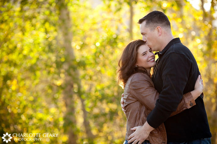 Colorado Springs engagement portrait in the fall