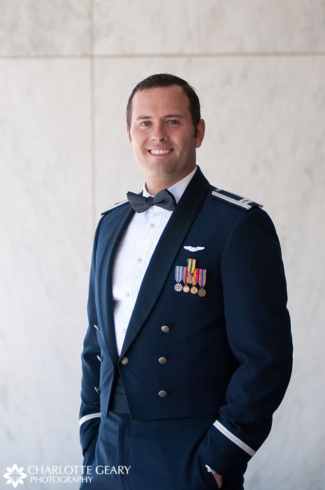 Groom at the Air Force Academy