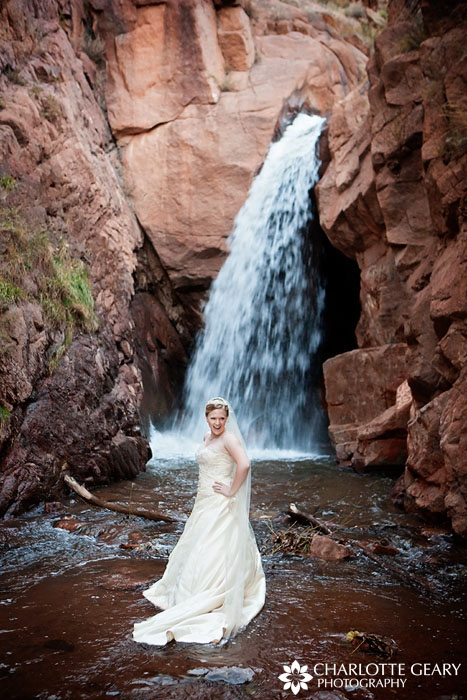 Colorado Springs trash the dress wedding photo by Charlotte Geary Photography