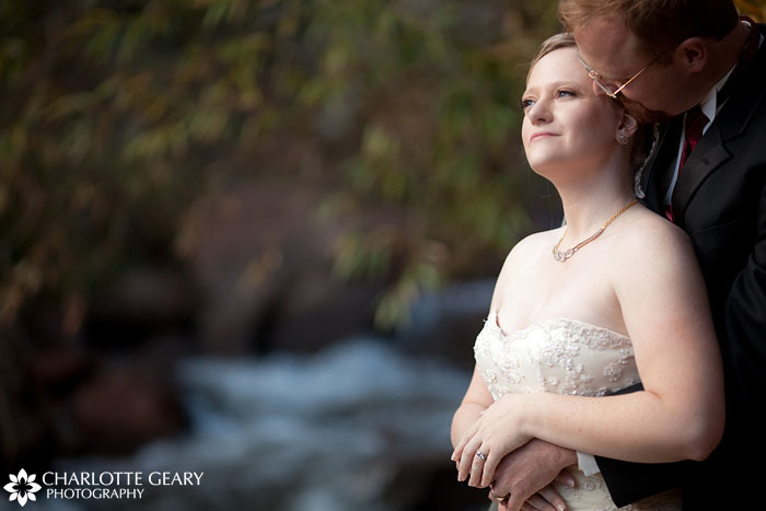 Rainbow Falls wedding portrait by Charlotte Geary Photography