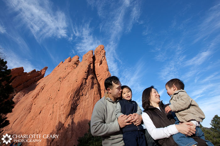 Colorado Springs family portrait at the Garden of the Gods