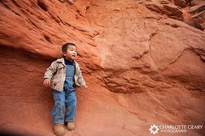 Colorado Springs children's portrait in the Garden of the Gods