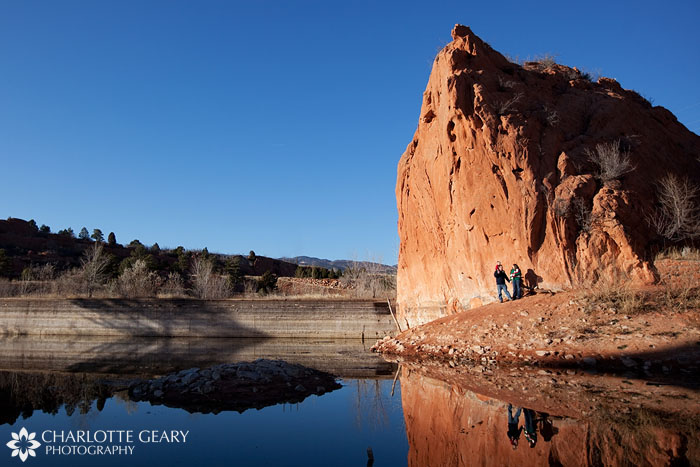Colorado Springs family portraits in Red Rock Canyon