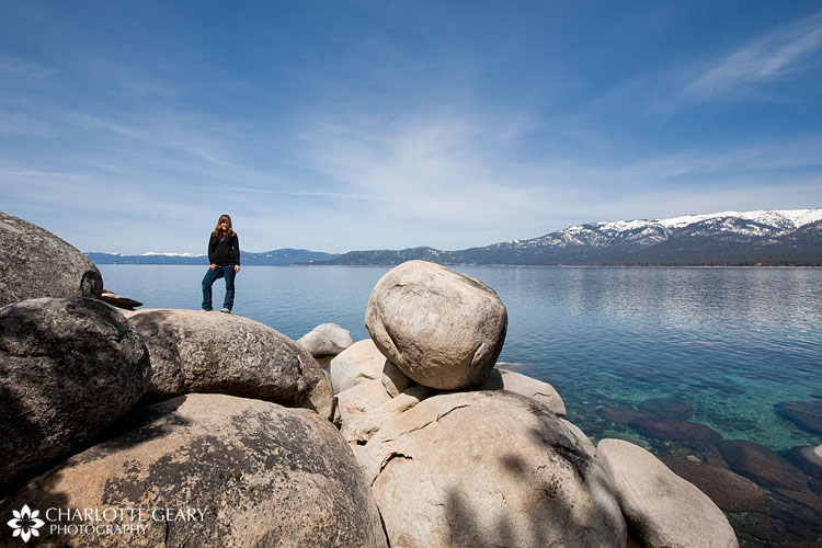 Charlotte Geary at Lake Tahoe